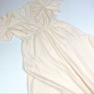 Vintage Blush Nylon Nightgown SZ S